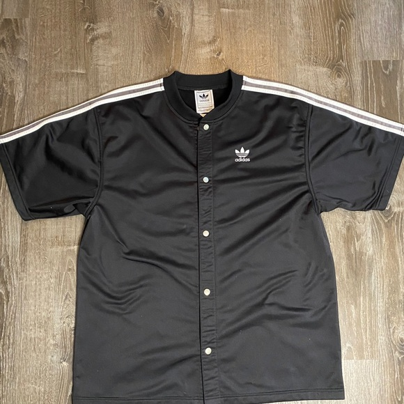 Adidas Button Down Jersey Style with Trefoil logo